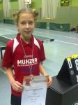 U11-Einzel Melina Heinig 2. Platz